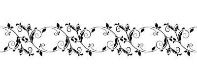 Horyzontalna bezszwowa rocznik winieta również zwrócić corel ilustracji wektora ilustracja wektor