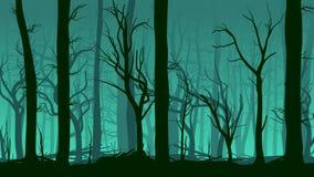Horyzontalna ilustracja pinewood las. ilustracji
