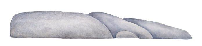 Horyzontalna linia ogromny światło - szarości skały kamienie ilustracja wektor