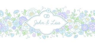 Horyzontalna ślubna karta Zdjęcie Royalty Free