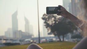 Horyzontalna orientacja Fotografować telefon komórkowy kamerę zbiory wideo