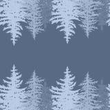 Horyzontalna sosny karta Ilustracja Wektor
