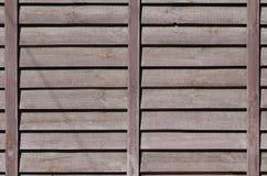 Horyzontalna tekstura ściana od kilka rzędów brown stare drewniane deski Malująca drewniana ściana w brown colo Zdjęcia Stock