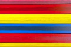 Horyzontalne kolorowe deski Obrazy Royalty Free