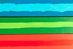 Horyzontalne kolorowe deski Obraz Royalty Free