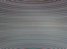Horyzontalnego stereo chroma przeplatający i wyginający się tv wykłada abstrakt ilustracji