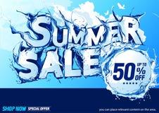 Horyzontalnej lato sprzedaży Wodna fala ilustracji