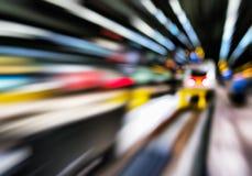 Horyzontalni żywi abstrakcjonistyczni ruchu dworca transportu półdupki obraz stock