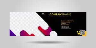 Horyzontalni biznesowi sztandary prosty nowożytny design-07 ilustracji