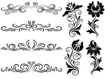 horyzontalni dekoracja elementy Zdjęcia Stock