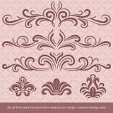 horyzontalni dekoracja elementy Zdjęcie Royalty Free