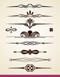 Horyzontalni dividers i dekoracje Fotografia Royalty Free
