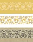 Horyzontalni dziejowi ornamenty ustawiający Zdjęcie Stock