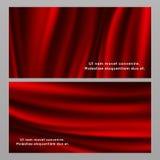 Horyzontalni i pionowo czerwoni jedwabniczej tkaniny sztandary ilustracja wektor
