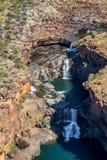 Horyzontalni spadki, Kimberley, Australia antena zdjęcie stock