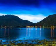 Horyzontalny żywy Norwegia fjords oceanu landcape cloudscape tęsk ex zdjęcia stock