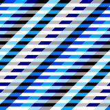 Horyzontalny błękitny paska wzór w patchworku kolażu stylu ilustracji
