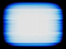 Horyzontalny błękitny retro rocznika tv ekranu abstrakci tła b Obraz Stock