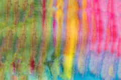 Horyzontalny barwiony akwareli tło dla teksta Kolor żółty, zieleń, czerwień fotografia royalty free