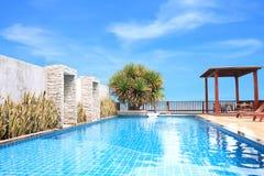 Horyzontalny basen na pokładu budynku Obraz Royalty Free
