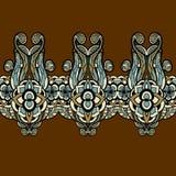 Horyzontalny bezszwowy kwiecisty tło Fotografia Stock