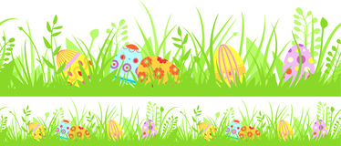 Horyzontalny bezszwowy Wielkanocny tło Obraz Royalty Free