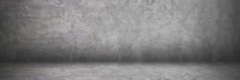 horyzontalny cement, betonowa ściana i podłoga z cieniem dla pa Zdjęcie Stock