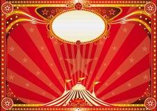 Horyzontalny czerwony cyrkowy tło ilustracja wektor