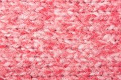 Horyzontalny Czerwony dzianie Backgr lub Trykotowy tkaniny tekstury wzór Fotografia Stock