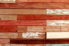 Horyzontalny drewniany ścienny tekstury tło Zdjęcia Royalty Free