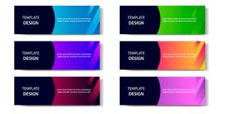 Horyzontalny Gradientowy geometryczny i nowożytny futurystyczny tło szablon dla biznesu, moda, sztandar ilustracji