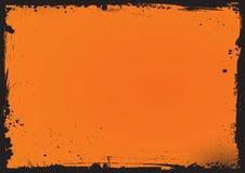 Horyzontalny Halloweenowy tło z grunge granicą ilustracji