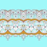 Horyzontalny koronkowy steampunk ornament, ornamentacyjny royalty ilustracja