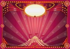Horyzontalny magiczny cyrkowy tło royalty ilustracja