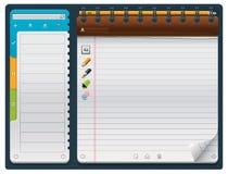 horyzontalny notepad szablonu wektor ilustracja wektor