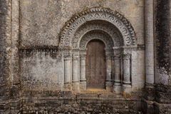 Horyzontalny pic od Północnego drzwi Notre-Dame De l'Assomption De Obraz Stock