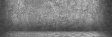 horyzontalny projekt na cemencie i betonowej ścianie z cieniem dla pa Zdjęcie Royalty Free