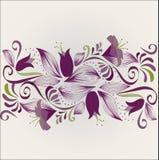 Horyzontalny purpura ornament Ilustracji