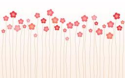 Horyzontalny różowy Sakura Zdjęcie Royalty Free