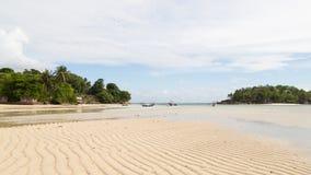 Horyzontalny seascape z pięknym białym piaskiem Obraz Stock