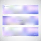 Horyzontalny set sztandary z Stubarwnym Blured royalty ilustracja