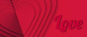 Horyzontalny szablon z tło projektem z sercami Promocji i sprzedaży sztandary, talony, prezent karty, etykietki, ulotka Teksta sł ilustracji