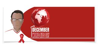 Horyzontalny sztandar dla światu POMAGA dzień Zdjęcia Stock