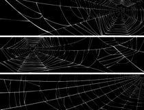 Horyzontalny sztandar sieć pająk. Royalty Ilustracja