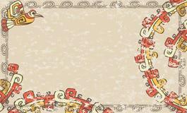 Horyzontalny tło w azteka stylu ilustracja wektor