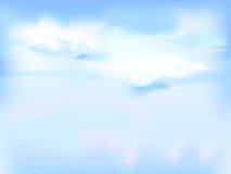 Horyzontalny wektorowy niebo - błękitny abstrakcjonistyczny tło royalty ilustracja