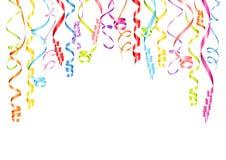 Horyzontalny Wiszący Streamers tło Z Różnymi kolorami ilustracji