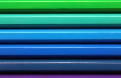 Horyzontalnych kolorów ołówków widma gradientowa tekstura Fotografia Stock