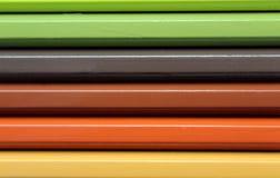 Horyzontalnych kolorów ołówków widma gradientowa tekstura Obraz Royalty Free