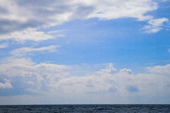 horyzontu oceanu denna zmierzchu woda Morze Przy zmierzchem Z Niektóre Motio Obrazy Stock